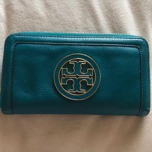 Tory Burch Blue Wallet